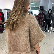 Одежда handmade. Livemaster - original item Sweater for women in the color cocoa (brown). Handmade.