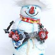 снеговик папье маше