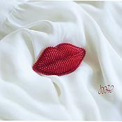 handmade. Livemaster - original item Brooch Lips. Handmade.