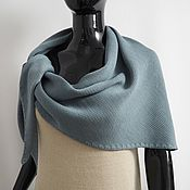 handmade. Livemaster - original item scarves: Knitted kerchief made of merino dusty gray-blue. Handmade.