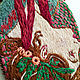Laurel pendant based on the works of Alphonse Mucha hand embroidery. Pendant. ArtelL. My Livemaster. Фото №5