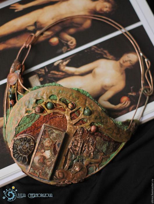"""Колье, бусы ручной работы. Ярмарка Мастеров - ручная работа. Купить """"Adam et Eva. Hortus Edenis"""" колье медное. Handmade."""