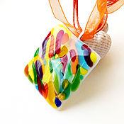 Украшения handmade. Livemaster - original item Pendant glass. Murano. Italian walk. Fusing decoration. Handmade.