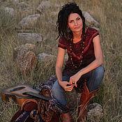 """Одежда ручной работы. Ярмарка Мастеров - ручная работа Туника -платье из шерсти и шелка """"Gypsy Soul` бордо. Handmade."""