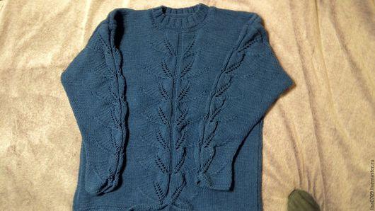 Кофты и свитера ручной работы. Ярмарка Мастеров - ручная работа. Купить кофта вязанная женская. Handmade. Синий, свитер вязаный