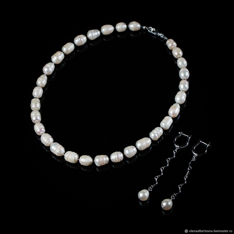 1ed5e94a717 Elena Potsepnya Jewelry Jewelry Sets handmade. White pearl necklace and  classic earrings set. Elena Potsepnya Jewelry.