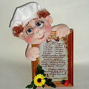 """Куклы и игрушки ручной работы. Ярмарка Мастеров - ручная работа Поваренок с """"Рецептом счастливого дома"""". Handmade."""