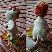 Куклы и игрушки ручной работы. Ярмарка Мастеров - ручная работа Муми-тролль. Валяная игрушка. Handmade.