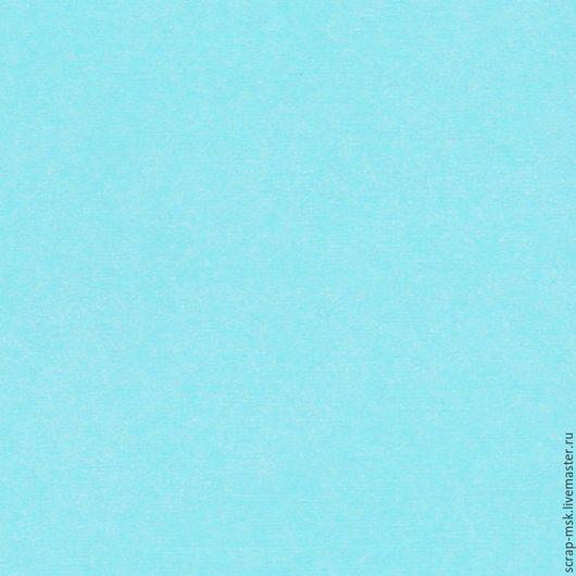 Открытки и скрапбукинг ручной работы. Ярмарка Мастеров - ручная работа. Купить Кардсток текстурированный Небесно-голубой 12110. Handmade.