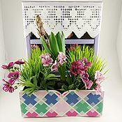 Цветы и флористика handmade. Livemaster - original item Planter with mirror window. Handmade.