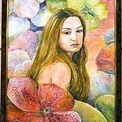 """Картины и панно ручной работы. Ярмарка Мастеров - ручная работа Картина """"Пэри в волшебном саду"""". Handmade."""