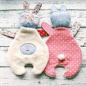 Куклы и игрушки ручной работы. Ярмарка Мастеров - ручная работа Зайка комфортер. Handmade.
