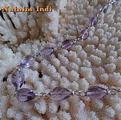 "Украшения handmade. Livemaster - original item Amethyst necklace in Wire Wrap technique ""Jaipur"". Handmade."