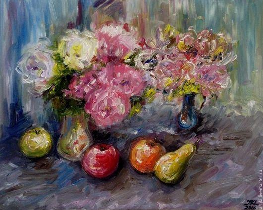 Картины цветов ручной работы. Ярмарка Мастеров - ручная работа. Купить Осенние цветы. Handmade. Комбинированный, натюрморт с цветами