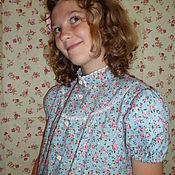 """Блузки ручной работы. Ярмарка Мастеров - ручная работа БЛУЗКА для девочки американский хлопок """"Оливия"""". Handmade."""