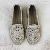 Обувь ручной работы handmade. Livemaster - original item Shoes linen womens knitted. Handmade.