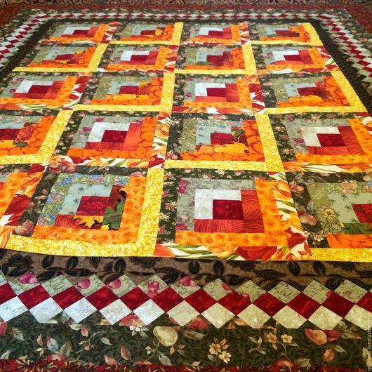 Текстиль, ковры ручной работы. Ярмарка Мастеров - ручная работа. Купить Огонь камина Лоскутное одеяло. Handmade. Лада, фамильное
