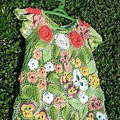 """Работы для детей, ручной работы. Ярмарка Мастеров - ручная работа Детское платье """"Summer garden""""- ирландское кружево. Handmade."""