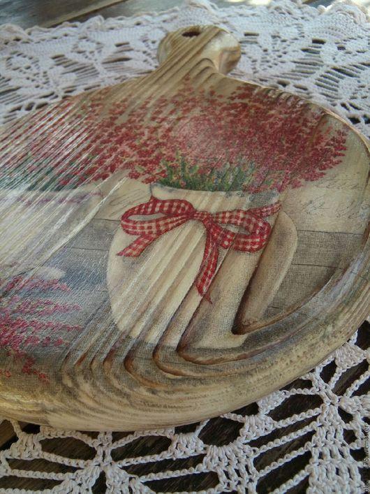 """Кухня ручной работы. Ярмарка Мастеров - ручная работа. Купить Сырная досочка """"Вереск"""". Handmade. Комбинированный, доска разделочная"""