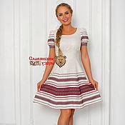 Одежда handmade. Livemaster - original item Modern dress with oberezhnymi ornaments