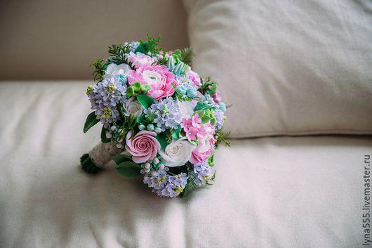 Свадебные цветы ручной работы. Ярмарка Мастеров - ручная работа. Купить букет невесты. Handmade. Бледно-розовый, букет невесты