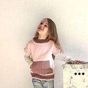 Жилеты ручной работы. Ярмарка Мастеров - ручная работа Жилет (безрукавка) вязаный с карманом-кенгуру. Handmade.