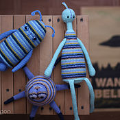Stuffed Toys handmade. Livemaster - original item Crochet Amigurumi toys Aliens. Handmade.