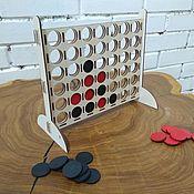 Куклы и игрушки handmade. Livemaster - original item Board game Four in a row. Handmade.