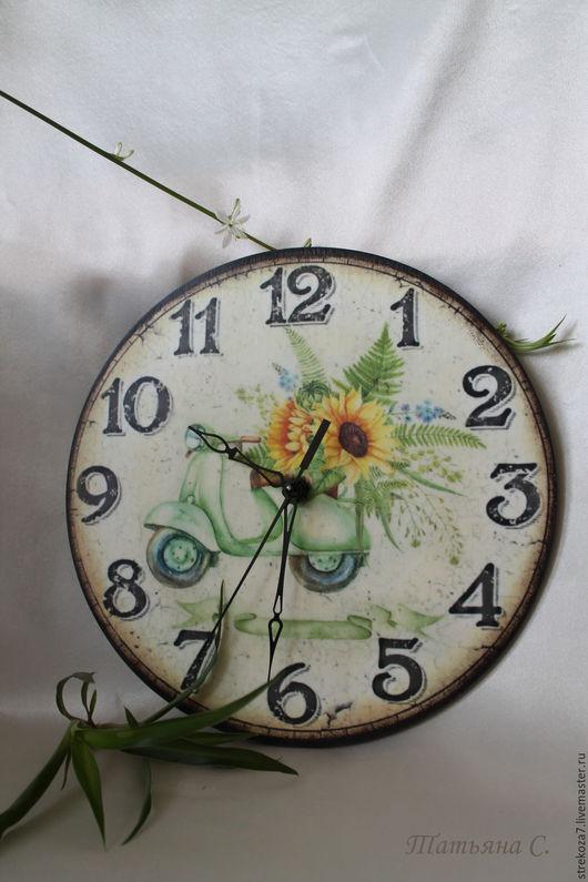 Часы для дома ручной работы. Ярмарка Мастеров - ручная работа. Купить Часы Летнее настроение. Handmade. Часы, часы с цветами