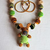 "Одежда handmade. Livemaster - original item Slingobusy with a toy rattle ""Rabbit"". Handmade."