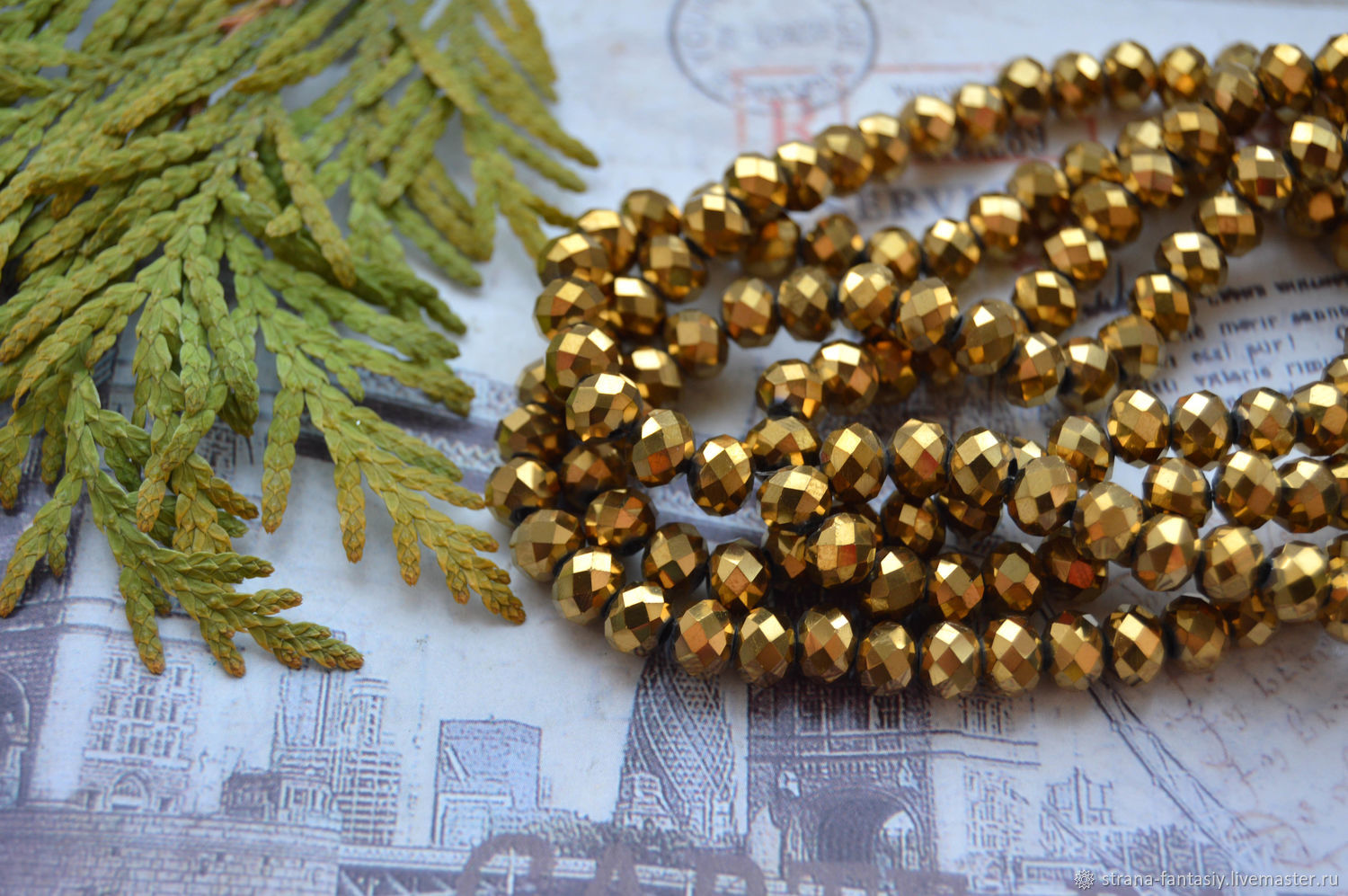 Rondeli 6h4 m 'Antique gold', Beads1, Stavropol,  Фото №1