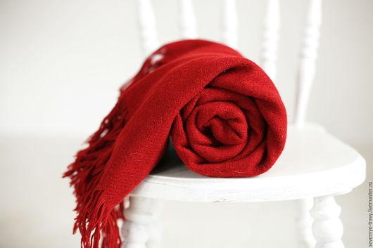 Текстиль, ковры ручной работы. Ярмарка Мастеров - ручная работа. Купить Плед шерстяной красный. Handmade. Купить красный плед