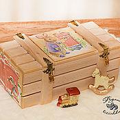 """Подарки к праздникам ручной работы. Ярмарка Мастеров - ручная работа Новогодний ящик """"Кролик"""", новогодняя упаковка. Handmade."""