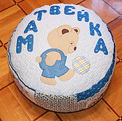 Для дома и интерьера ручной работы. Ярмарка Мастеров - ручная работа Детский пуфик  для Матвейки. Handmade.