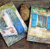 """Картины и панно ручной работы. Ярмарка Мастеров - ручная работа """"На улице Вильнёв-Лубе"""", набор настенных Панно, Прованс. Handmade."""