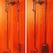 Для дома и интерьера ручной работы. Ярмарка Мастеров - ручная работа Каминный набор двойной подвесной.Металл.Ручная художественная ковка.. Handmade.