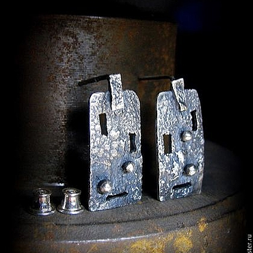 Украшения ручной работы. Ярмарка Мастеров - ручная работа Серебряные серьги Windows. Handmade.