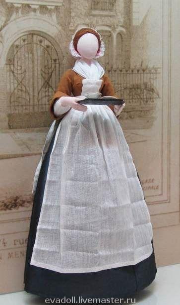"""Кукла выполнена по картине Ж.Э. Лиотара """"Прекрасная Шоколадница"""""""