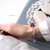 Украшения handmade. Livemaster - original item Amethyst bracelet stylish beautiful casual. Handmade.