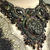 Украшения handmade. Livemaster - original item Evening decoration-black necklace Starry night with natural stones. Handmade.