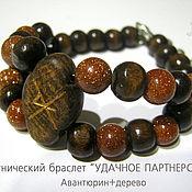 Фен-шуй и эзотерика handmade. Livemaster - original item RUNIC BRACELETS made of stone and wood. Business, luck, love. Handmade.