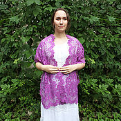 Аксессуары handmade. Livemaster - original item Kukarsky stole Vyatka Vologda lace. Handmade.