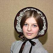 Аксессуары handmade. Livemaster - original item Velvet bonnet. Handmade.