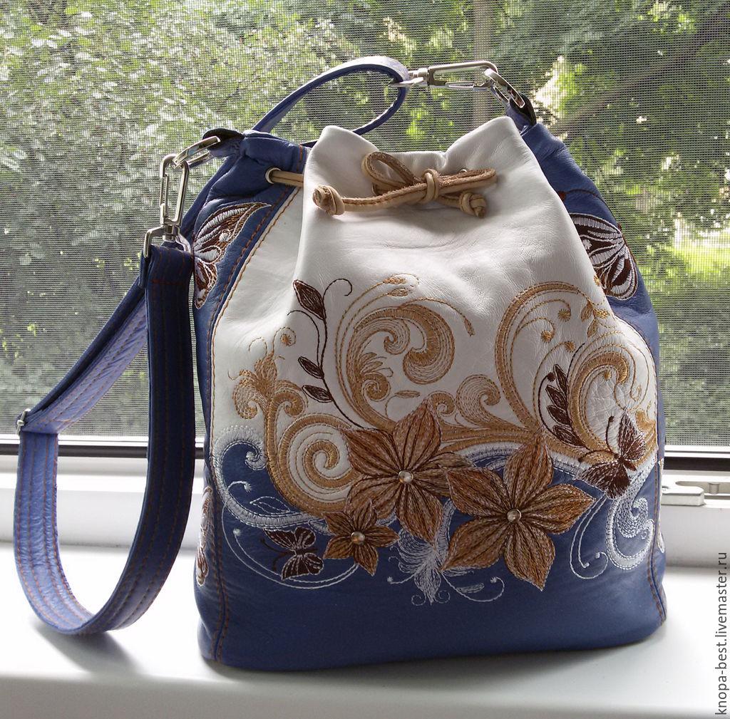 Сумка торбочка из натуральной кожи для Анны, Женские сумки, Москва, Фото №1