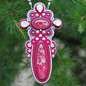 Украшения handmade. Livemaster - original item Soutache necklace with tolitoli and Swarovski crystals
