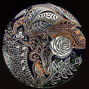 Посуда ручной работы. Ярмарка Мастеров - ручная работа Тарелка декоративная White Rose. Handmade.