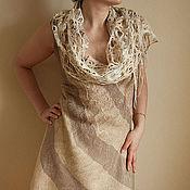 """Одежда ручной работы. Ярмарка Мастеров - ручная работа Платье  """"Песчаные реки"""" художественный войлок. Handmade."""