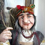 Куклы и игрушки ручной работы. Ярмарка Мастеров - ручная работа Кукла Баба Яга с летучей мышью. Handmade.