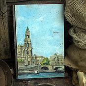"""Канцелярские товары ручной работы. Ярмарка Мастеров - ручная работа Блокнот """"Дрезден""""  в европейском стиле. Handmade."""