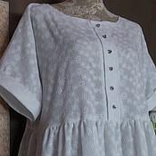 Одежда ручной работы. Ярмарка Мастеров - ручная работа БОХО - Платье уютное 06 БЕЛОСНЕЖКА. Handmade.